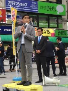 立憲民主党街頭演説会@中野駅北口に参加しました